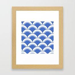 Japanese Fan Pattern Blue 2 Framed Art Print