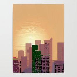 Sunset over Calfifornia Street Poster