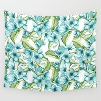 blossom Wall Tapestries featuring Blossom by Julia Badeeva