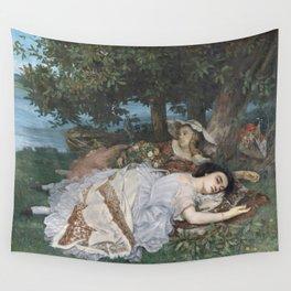 Gustave Courbet - Les Demoiselles des bords de la Seine Wall Tapestry