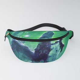 Pillars of Creation Blue Green teal Fanny Pack