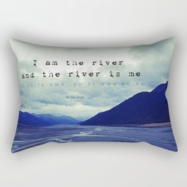 I am the River and the River is Me - Maori Wisdom - the world view Rectangular Pillow