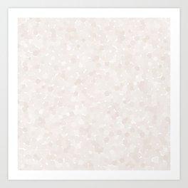 Bridal Blush Polka Dot Bubbles Art Print