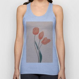 Orange Tulips Unisex Tank Top