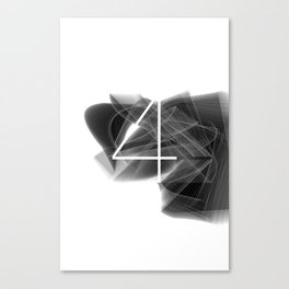 Number 4. Dark Math 4 Canvas Print