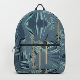 Tropical Art Deco 1.1a Blue, Green, Gold Backpack