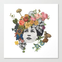 Head in the Flowers Canvas Print