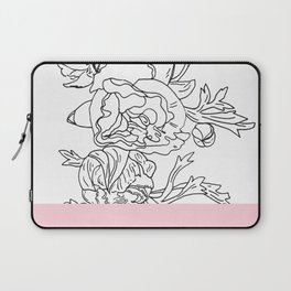 VESSEL - Floral Ink in Pink - Cooper and Colleen Laptop Sleeve