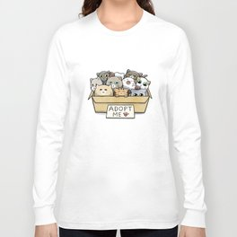 Box full of cats for adoption Long Sleeve T-shirt