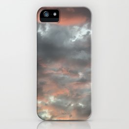 Gloomy grey red clouds iPhone Case