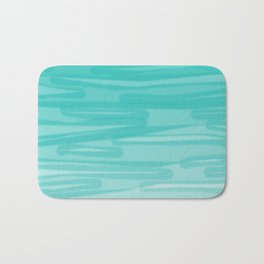 Bahama Blue Line Art, Variable Opacity Color Study - 2 Bath Mat