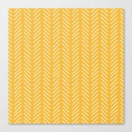 woodland yellow stripe Canvas Print