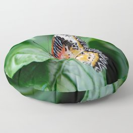 Multi-Colored Butterfly Floor Pillow