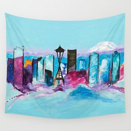 Seattle Skyline Wall Tapestry