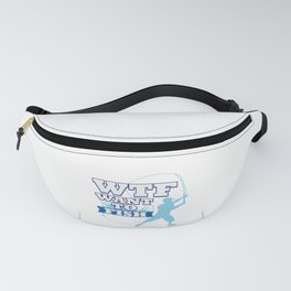 Funny Saying WTF Fishing Angling Fishermen Gift Fanny Pack