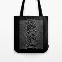 joy division Tote Bags featuring Joy Division 2 by NoHo