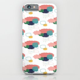 Cloudy shower pattern iPhone Case