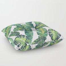 Jungle Leaves, Banana, Monstera II #society6 Floor Pillow