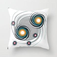 Spinning worlds Throw Pillow
