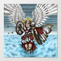 battlefield Canvas Prints featuring Battlefield Angel by Flocco