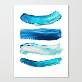 Blue Swash Paint Print Canvas Print