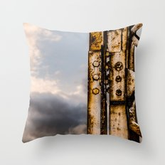 Industrial landscape Throw Pillow