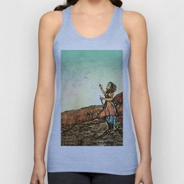Blowing Bubbles on the Mountain Unisex Tank Top