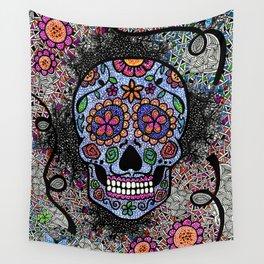 Crazy Skull  Wall Tapestry