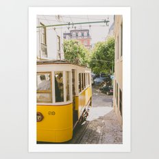 Yellow Cable Car Art Print