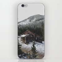 cabin iPhone & iPod Skins featuring Snowy Cabin by Kevin Russ