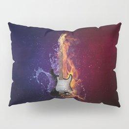 Cool Music Guitar Fire Water Artistic Pillow Sham