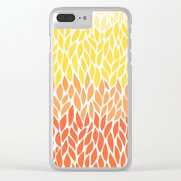 Orange Ombre 11-14 Clear iPhone Case