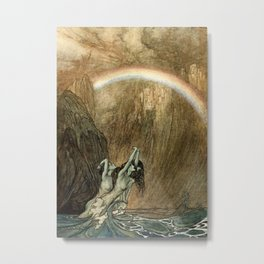 "Arthur Rackham Watercolor for Wagner's ""The Ring"" Metal Print"