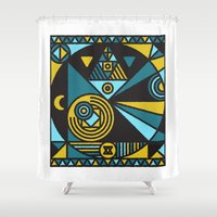 witchcraft Shower Curtains featuring Witchcraft Alchemist by thedeadprocession