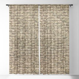 Burlap Textile Sheer Curtain