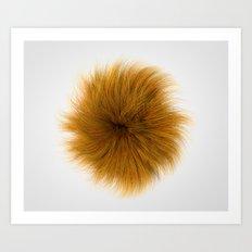 Orange Fuzz Art Print