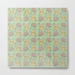 Hamster Pattern Metal Print