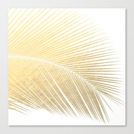 Palm leaf - gold Canvas Print