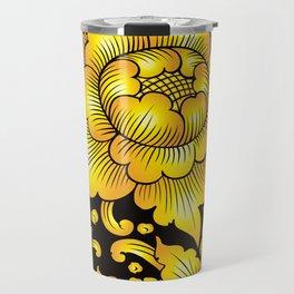 010_Thai Art Flower 03_GOLD Travel Mug