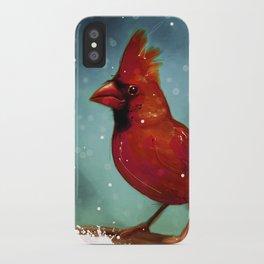 Cardinal snow iPhone Case