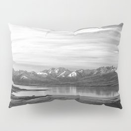 Lake Tekapo New Zealand-Black and White Pillow Sham