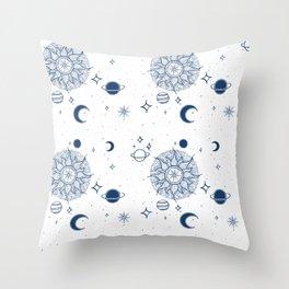 Space Toile de Jouy Throw Pillow