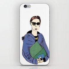 Bag Lady Blue iPhone & iPod Skin
