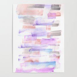 170527 Back to Basic Pastel Watercolour 2 |Modern Watercolor Art | Abstract Watercolors Poster