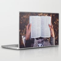 bible verses Laptop & iPad Skins featuring Bible by Johnny Frazer
