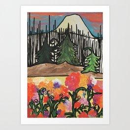 Light Emerges From Char Art Print