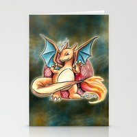 charizard Stationery Cards featuring 6 - charizard by Lyxy