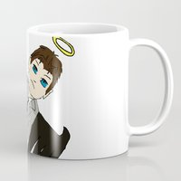 castiel Mugs featuring Castiel by Chrizzy0789