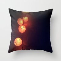 lanterns Throw Pillows featuring Lanterns by Designs by Jeffrey