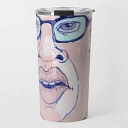 Caricature of Kim Jong-il Travel Mug
